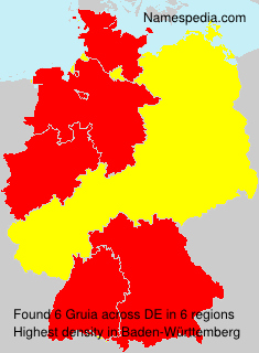 Surname Gruia in Germany