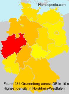 Surname Grunenberg in Germany