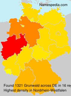 Surname Grunwald in Germany