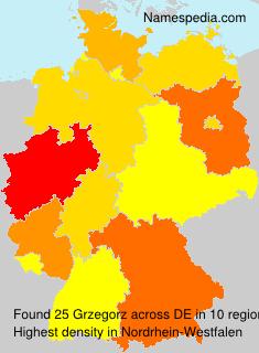 Surname Grzegorz in Germany