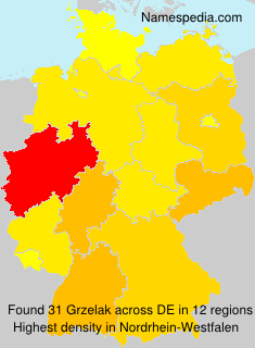 Surname Grzelak in Germany