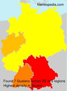 Familiennamen Gualano - Germany