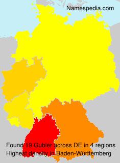 Surname Gubler in Germany