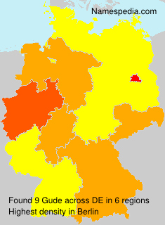 Surname Gude in Germany