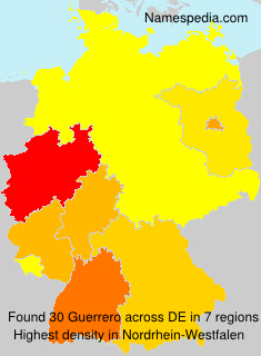 Surname Guerrero in Germany