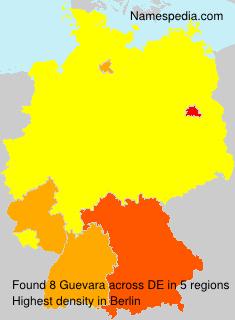 Surname Guevara in Germany