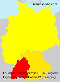 Familiennamen Guigas - Germany