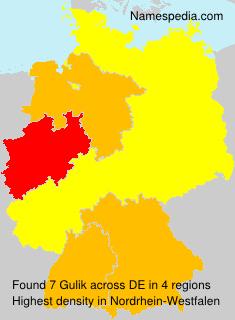 Surname Gulik in Germany