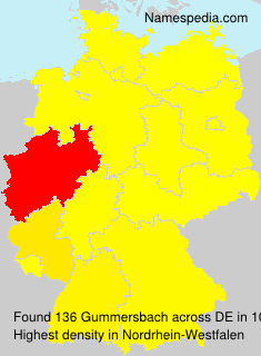 Surname Gummersbach in Germany
