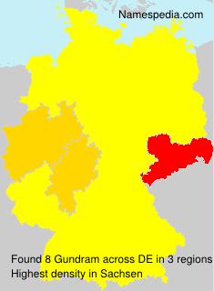 Familiennamen Gundram - Germany
