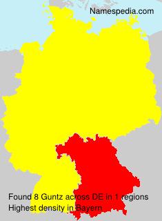 Familiennamen Guntz - Germany