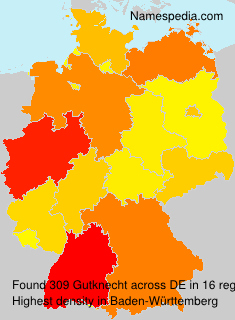Surname Gutknecht in Germany