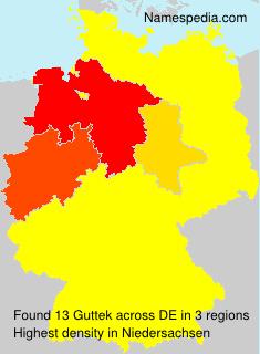 Familiennamen Guttek - Germany