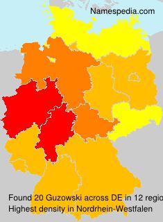 Surname Guzowski in Germany