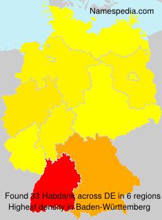 Surname Habdank in Germany