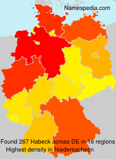 Surname Habeck in Germany