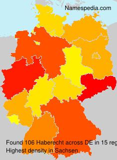 Familiennamen Haberecht - Germany