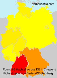 Surname Hachtel in Germany