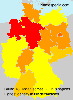 Familiennamen Hadan - Germany