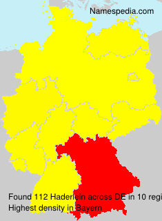 Surname Haderlein in Germany