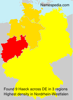 Surname Haeck in Germany