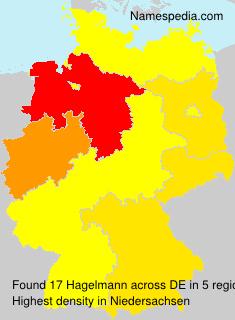 Surname Hagelmann in Germany