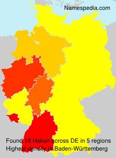 Surname Hakan in Germany