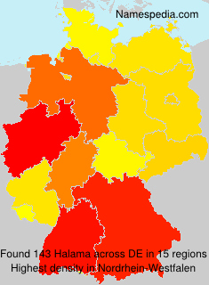Surname Halama in Germany