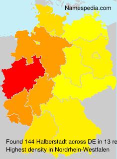 Surname Halberstadt in Germany