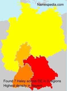 Familiennamen Haley - Germany