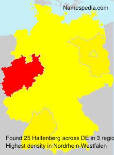Surname Halfenberg in Germany