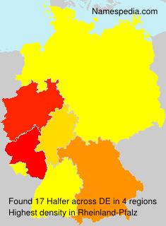 Surname Halfer in Germany