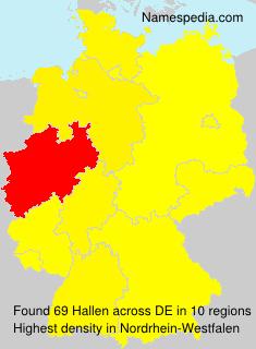 Surname Hallen in Germany