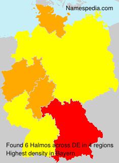 Surname Halmos in Germany