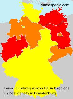 Surname Halweg in Germany