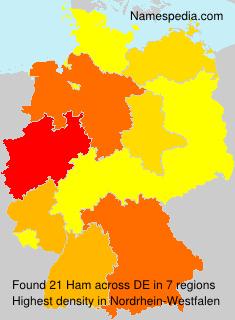 Familiennamen Ham - Germany