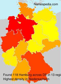 Surname Hamburg in Germany