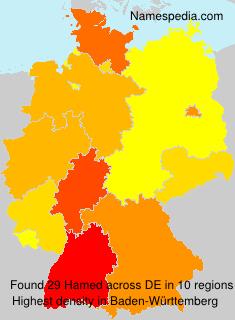 Surname Hamed in Germany
