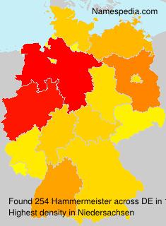 Surname Hammermeister in Germany