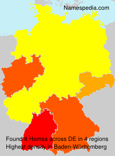 Surname Hamsa in Germany
