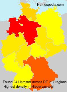 Surname Hamster in Germany