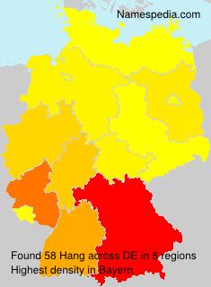 Surname Hang in Germany