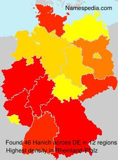 Familiennamen Hanich - Germany