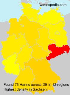 Surname Hanns in Germany