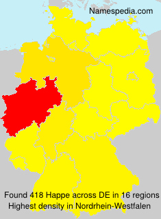 Surname Happe in Germany