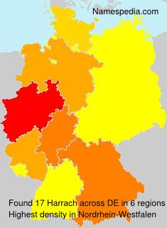 Familiennamen Harrach - Germany