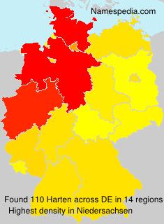 Surname Harten in Germany