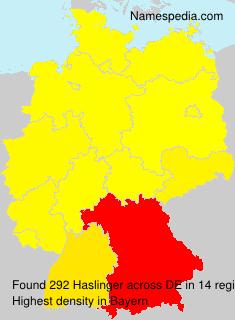 Familiennamen Haslinger - Germany
