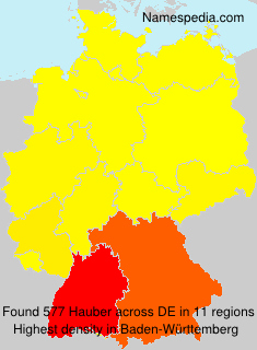 Surname Hauber in Germany