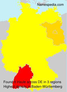 Familiennamen Haule - Germany